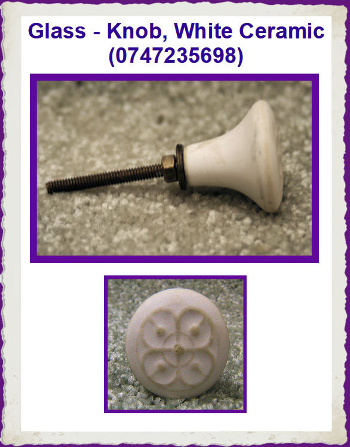 Glass - Knob, White Ceramic (0747235698) List Price $4.50