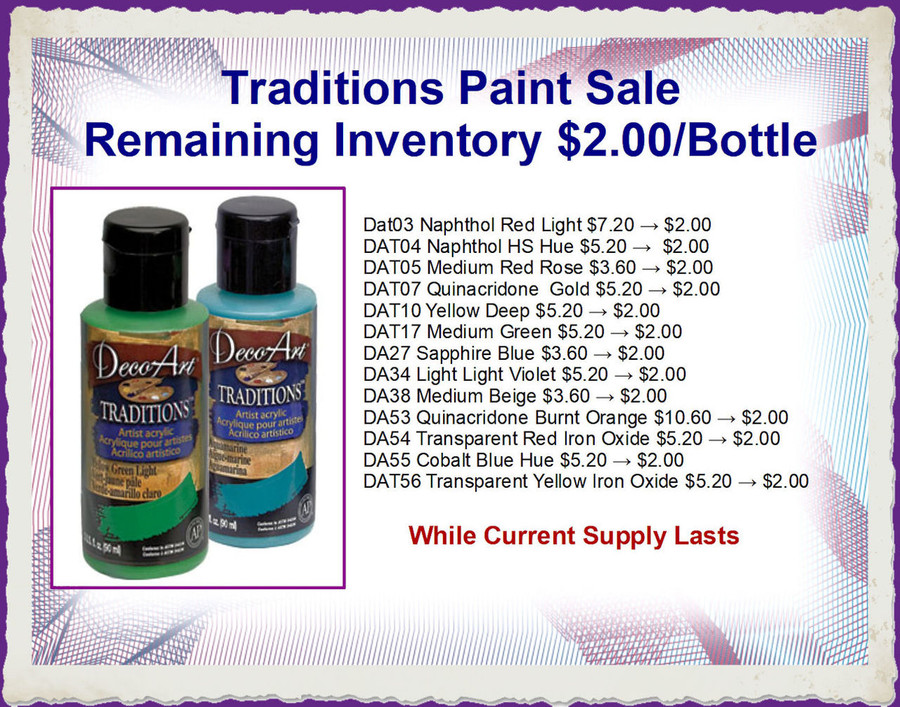 A Paint Special - DecoArt Traditions Paints