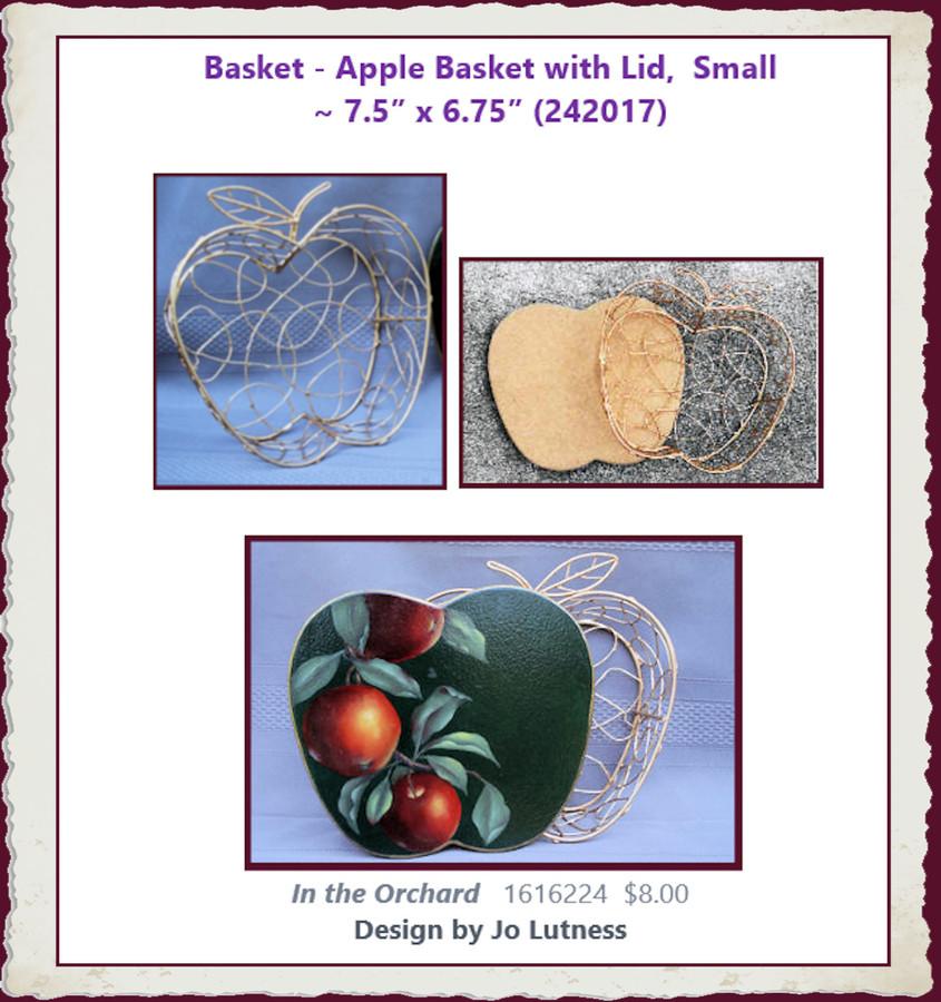 "Basket - Apple Basket, Small ~  7.5"" x 6.75"" (242017)"