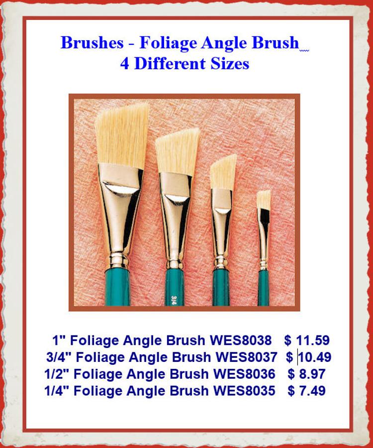 Brushes -  Foliage Angle Brushes - 4 Different Sizes