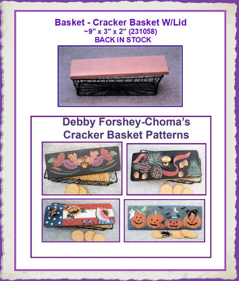"""Basket - Cracker Basket W/Lid  ~9"""" x 3"""" x 2""""  (231058) List Price $10.00 BOTTOMS ARE OUT OF STOCK"""