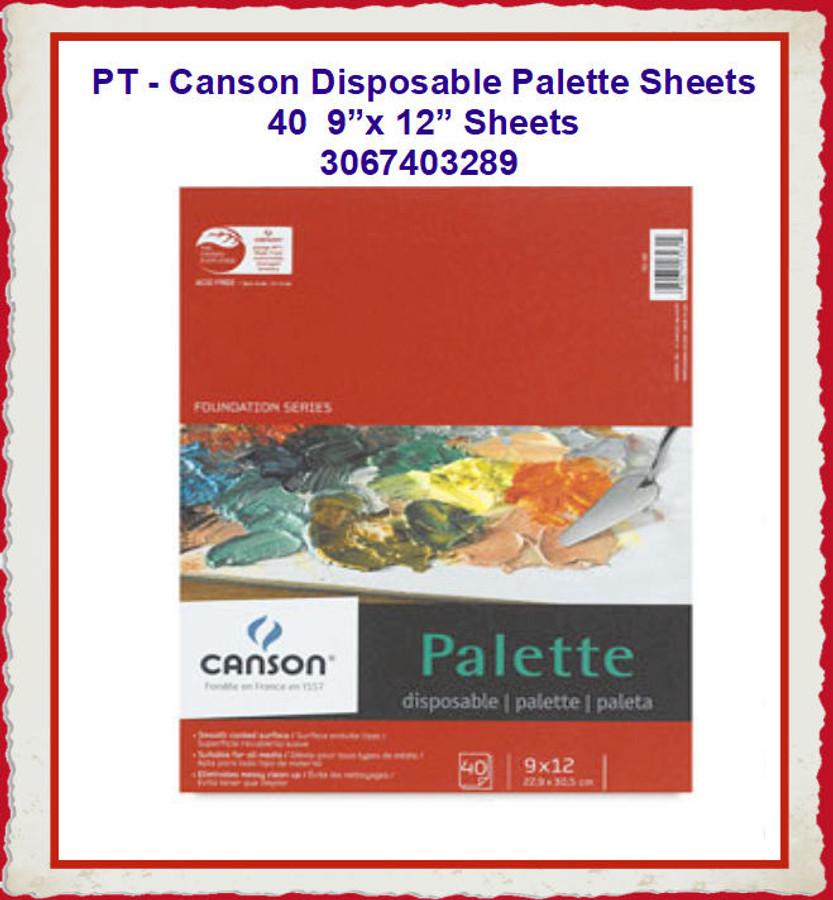 "PT - Canson Disposable 9"" x 12"" Palette  Sheets  (3067403289) List Price $9.80"
