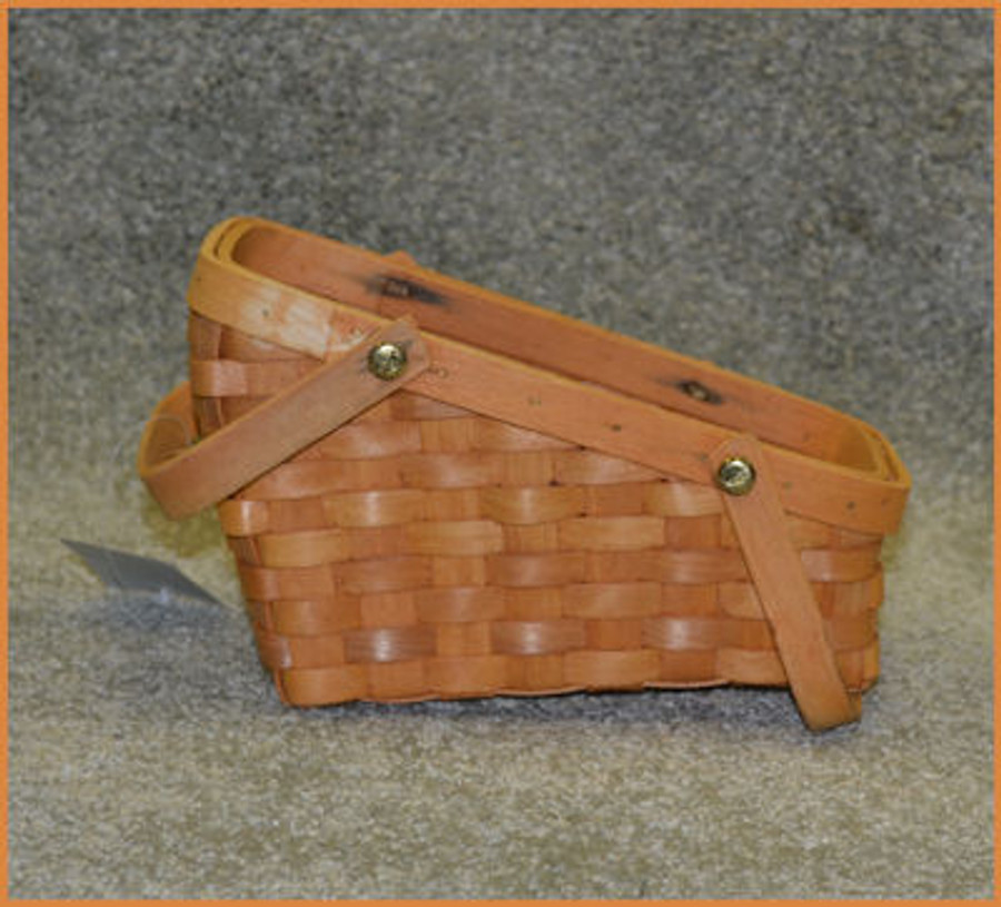 Small Slant Top Basket with an MDF Lid