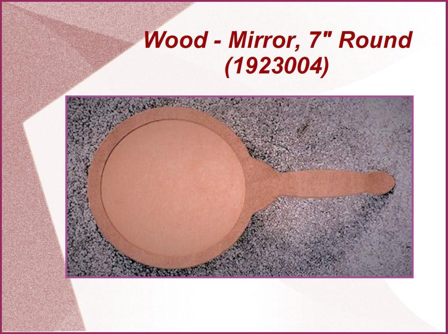 """Wood - Mirror, 7"""" Round (1923004)"""