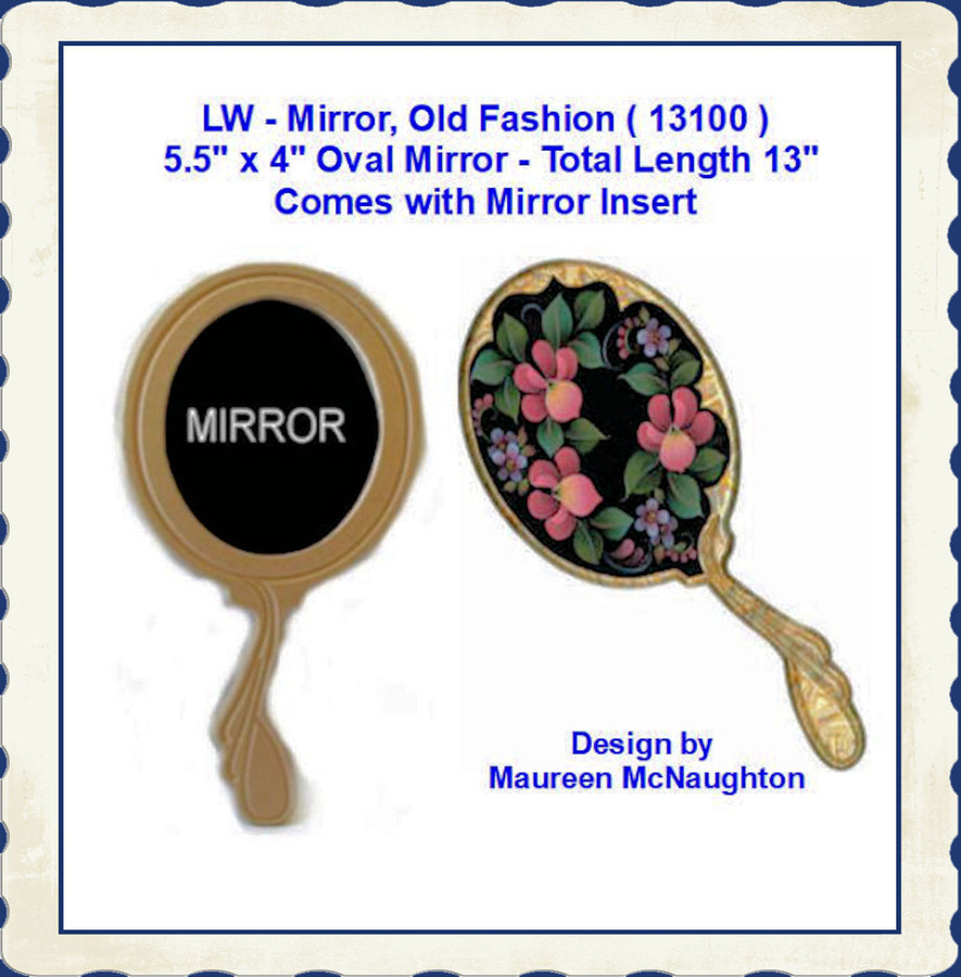 "LW - Mirror, Old Fashion  5.5"" x 4 x 13"" Long ( 13100 )"