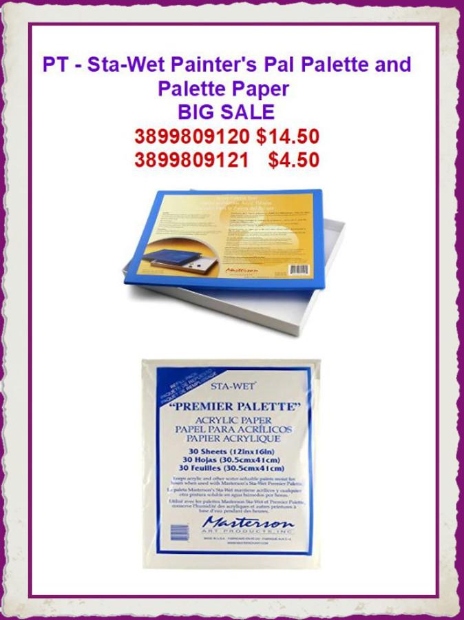 PT - Sta-Wet Painter's Pal Palette and Palette Paper BIG SALE(3899809120 $14.50 , 3899809121 $4.50) List Price  $19.95
