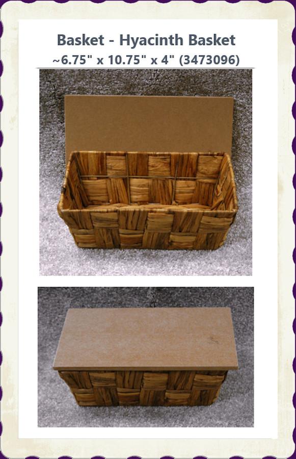 "Basket - Hyacinth Basket ~6.75"" x 10.75"" x 4"" (3473096)"