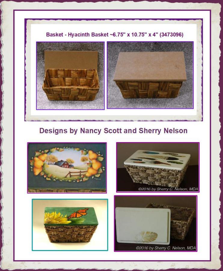"Basket - Hyacinth Basket ~6.75"" x 10.75"" x 4"" (3473096) List Price  $14.00"