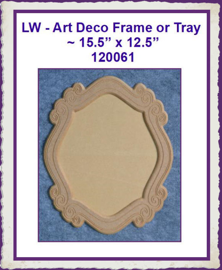 "LW - Art Deco Frame  ~ 15.5"" x 12.5""  (120061) List Price $12.00"