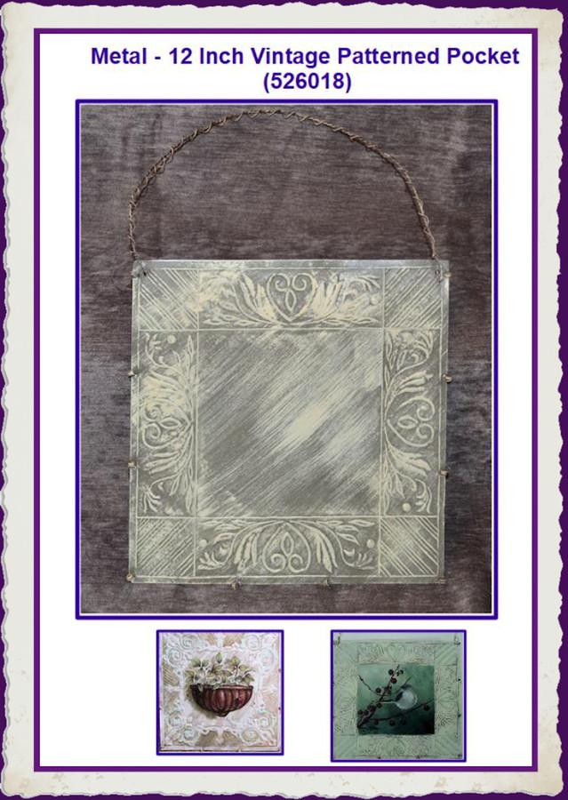Metal - 12 Inch Vintage Patterned Pocket (526018) List Price $16.50