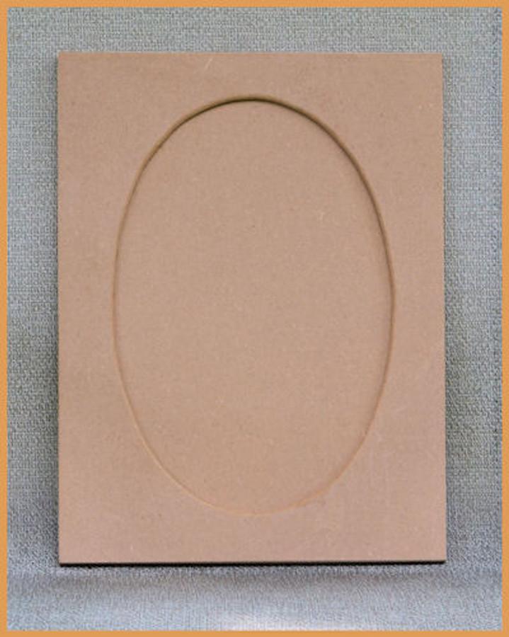 "Wood - Rectangular MDF Frame 16"" x 12"" with Oval Overlay (19236001) List Price $16.00"