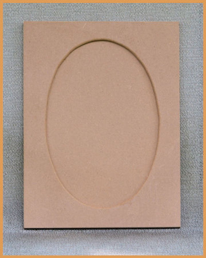 "Wood - Rectangular MDF Frame 16"" x 12"" with Oval Overlay (19236001) List Price $16.00"