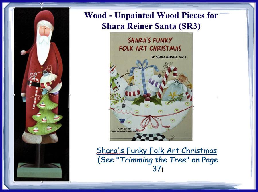Wood - Unpainted Wood Pieces for Shara Reiner Santa (SR3)