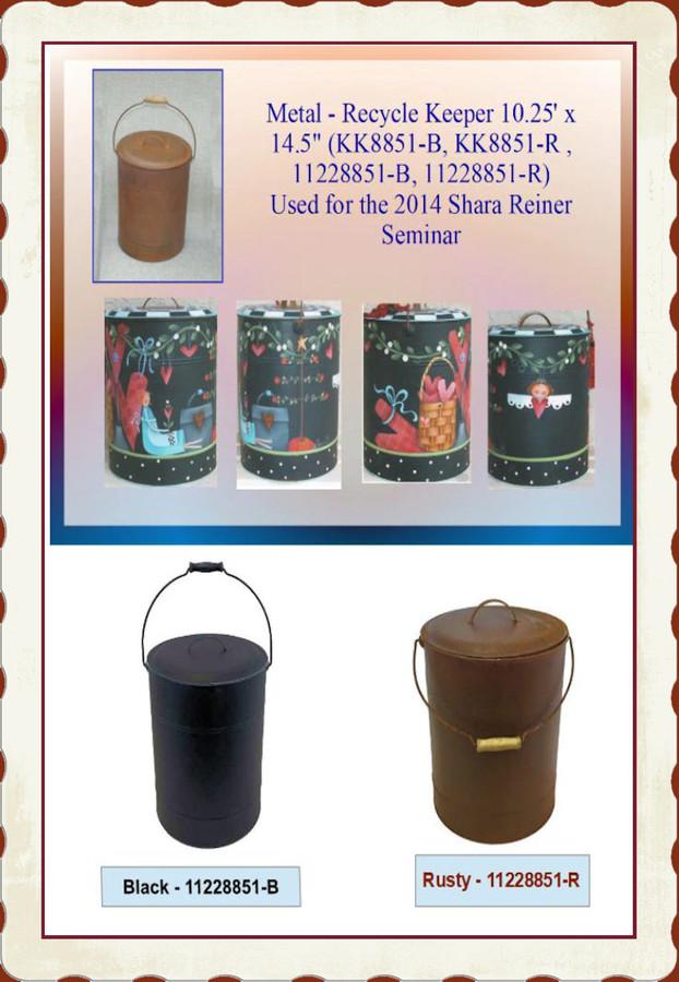 "Metal - Recycle Keeper 10.25' x 14.5"" (KK8851-B, KK8851-R , 11228851-B, 11228851-R) List Price $28.00  BACK IN STOCK"