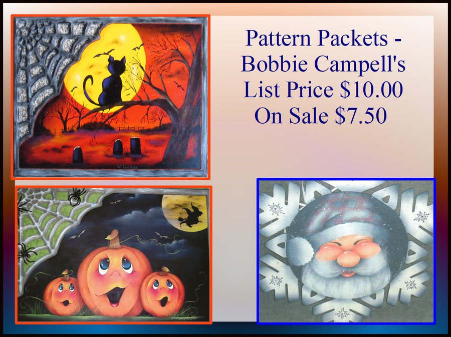 Pattern Packets - Bobbie Campell's  (23pp444, 23pp464, 23pp4457)