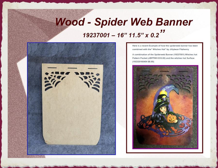 """Wood - Spider Web Banner 16"""" x 11.5"""" x 1/8 (19237001)"""