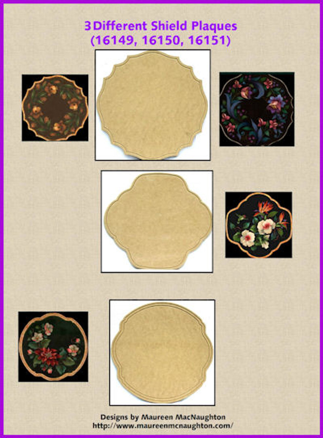 """LW - 3 Different Shield Plaques ~ 16"""" x 16"""" (16149, 16150, 16151) List Price $20.00"""