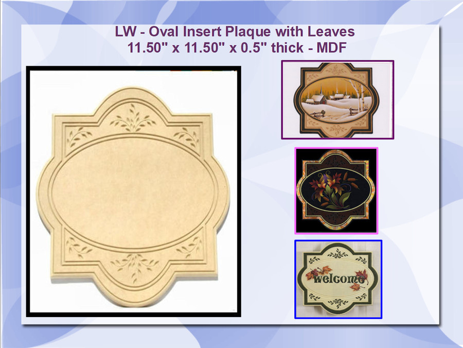 LW - Plaque Leaf with Oval Insert (16125) List Price 19.50