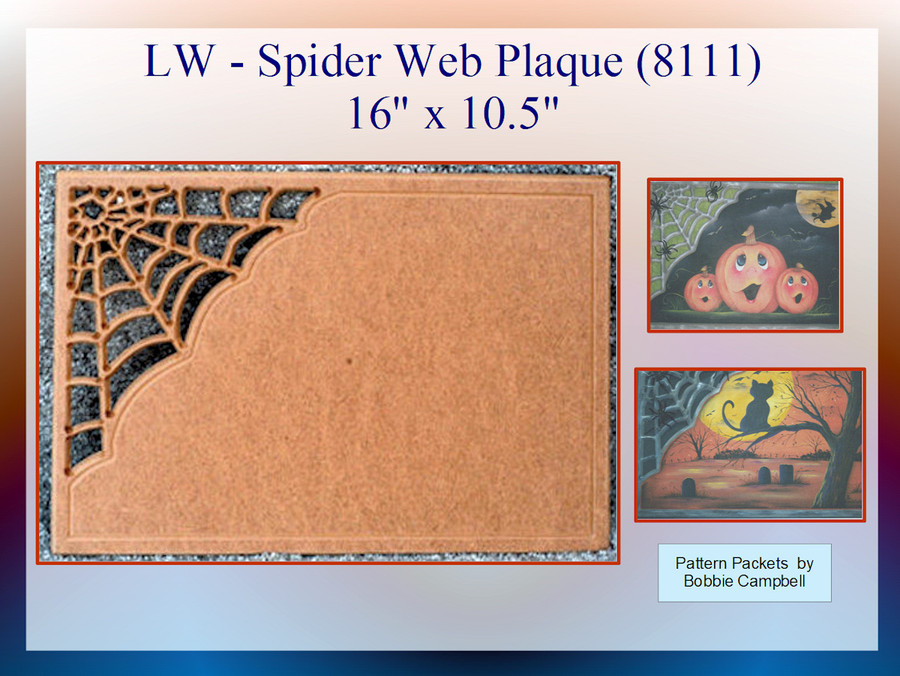 "LW - Spider Web Plaque 16"" x 10.5""  x 0.25""(8111) List Price 16.50 On Sale $11.50"