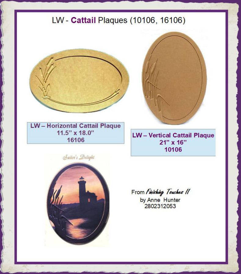 LW - Cattail Plaques (10106, 16106) List Price $24.00