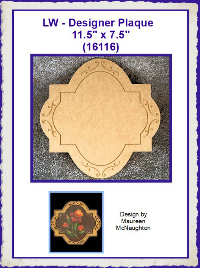 "LW - Cross Plaque 11.5"" 11.5"" (16116) List Price $15.00"