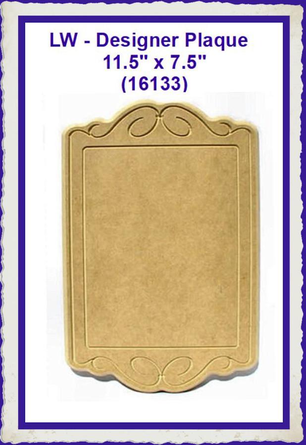 "LW - Designer Plaque 11.5' x 7.5"" (16133) LISt Price $13.00"