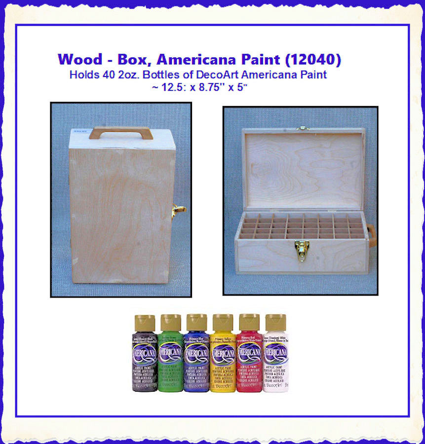 "Wood - Box, Americana Paint ~ 12.5"" x 8.75"" x 5"" (12040)  List Price $35.00"
