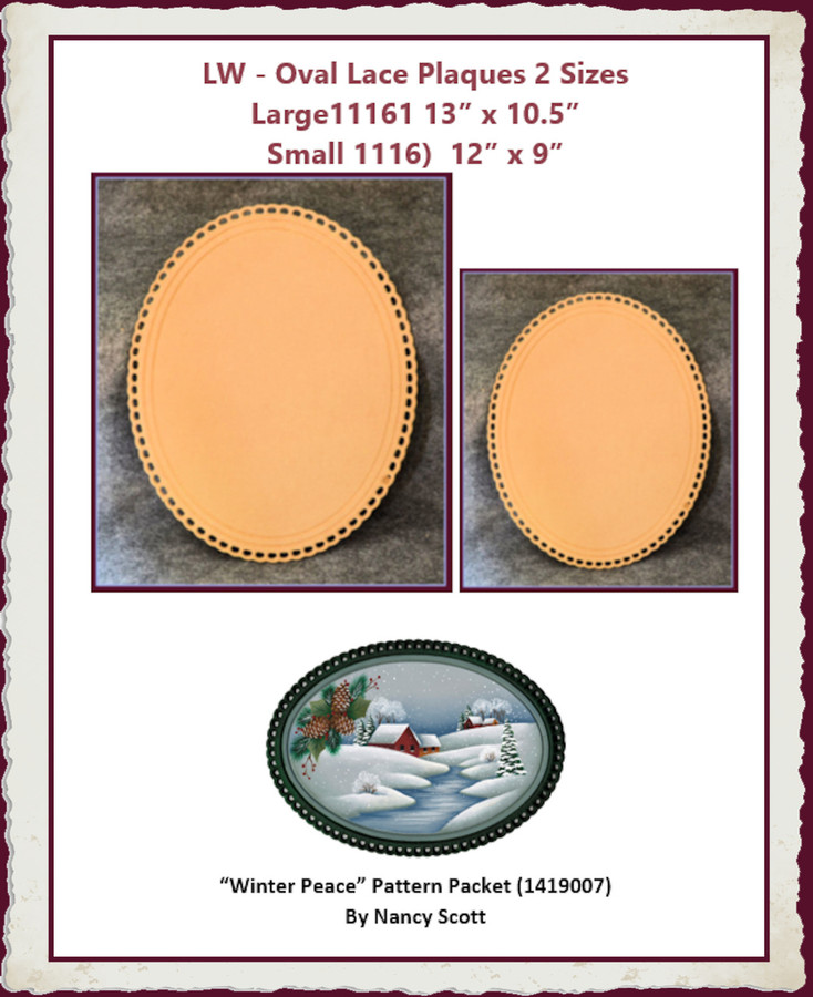 LW - Oval Lace Plaques 2 Sizes (Large11161, Small 1116)