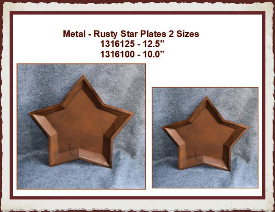Metal - Rusty Star Plates 2 Sizes (1316100, 1316125) List Price $9.00