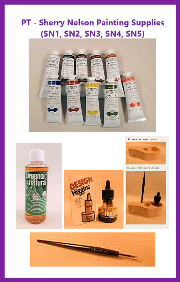 PT - Sherry Nelson Painting Supplies (SN1, SN2, SN3, SN4, SN5)