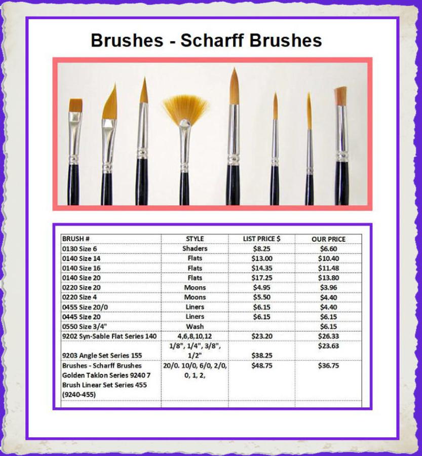 Brushes - Scharff Brushes (SB Scharff Brushes)