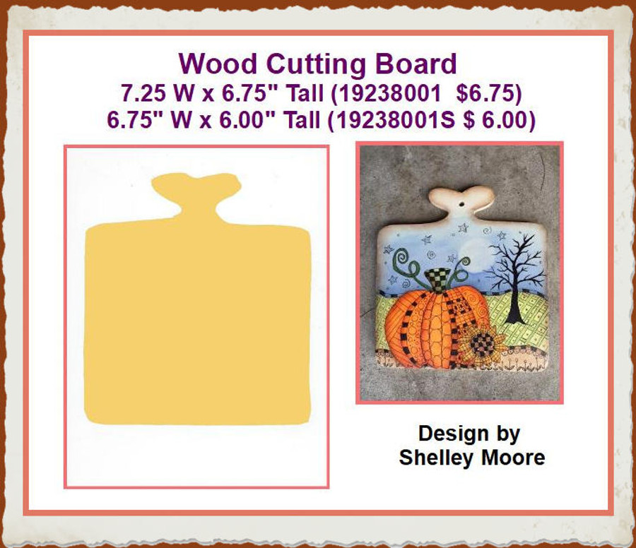 Wood - Cutting Board 2 Sizes (19238001, 19238001S) List Price $7.50