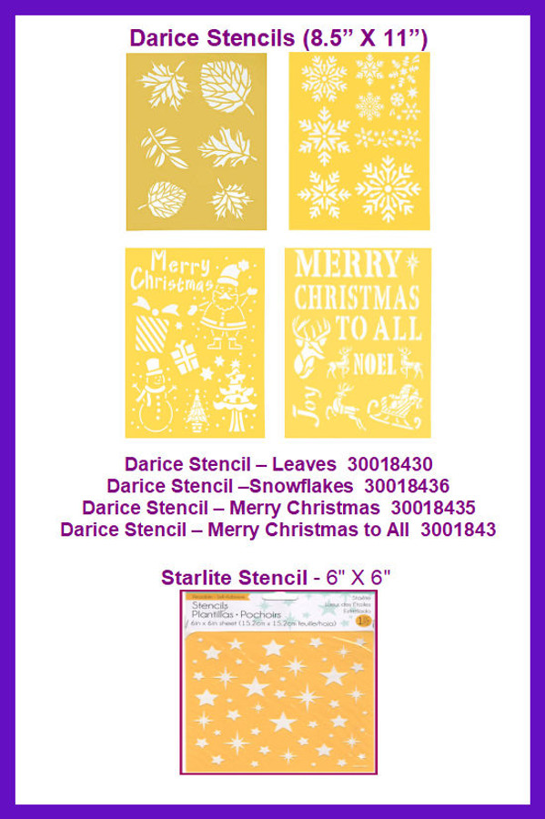 Stencil - Darice  - Specialty Stencils ( 300184X ,1121736)