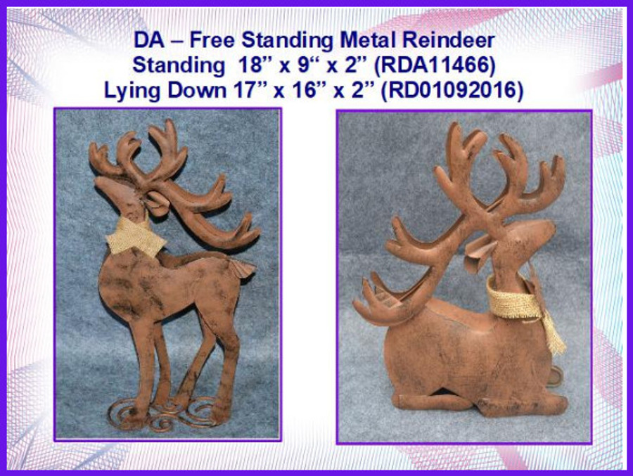 DA - Reindeer , Standing Rusty Metal   (RDS11466) List Price $20.00