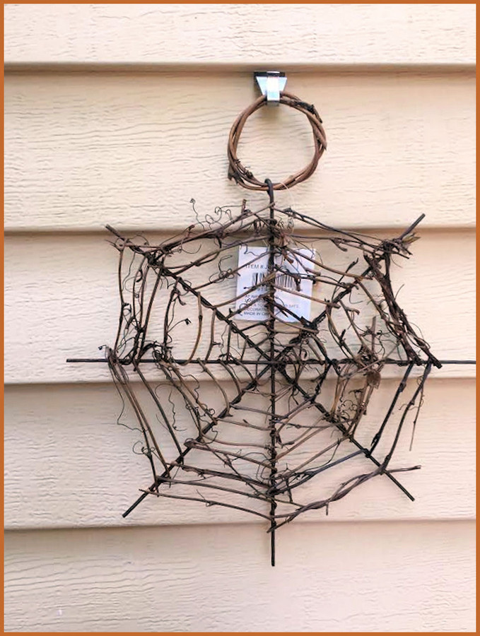 """Decorative Spider Web -2 Sizes 16"""" and 10"""""""
