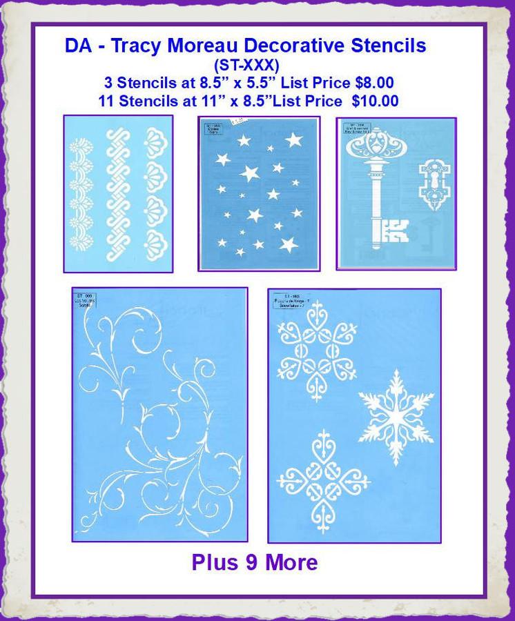 DA - Tracy Moreau Decorative Stencils (ST-XXX) List Price $8.00 and $10.00