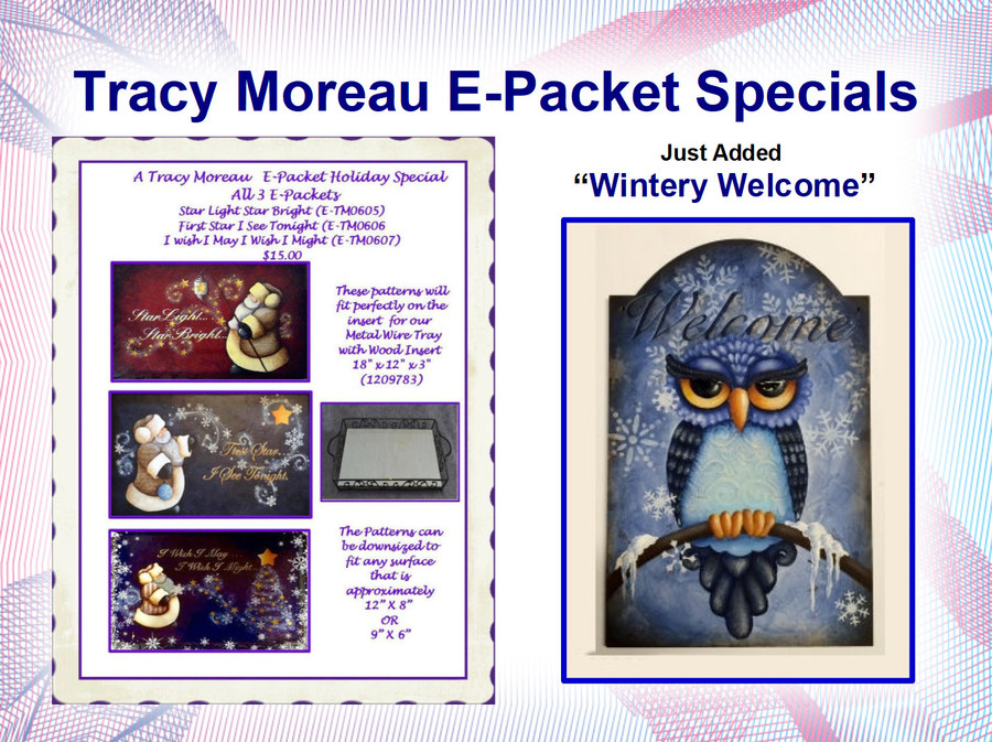 E-Packets by Tracy Moreau Christmas Sale Special (ETM-3 Packet Special, ETM0605, ETM0606, ETM0607) or ETM0609 List Price $8.00  Check the Special Prices!