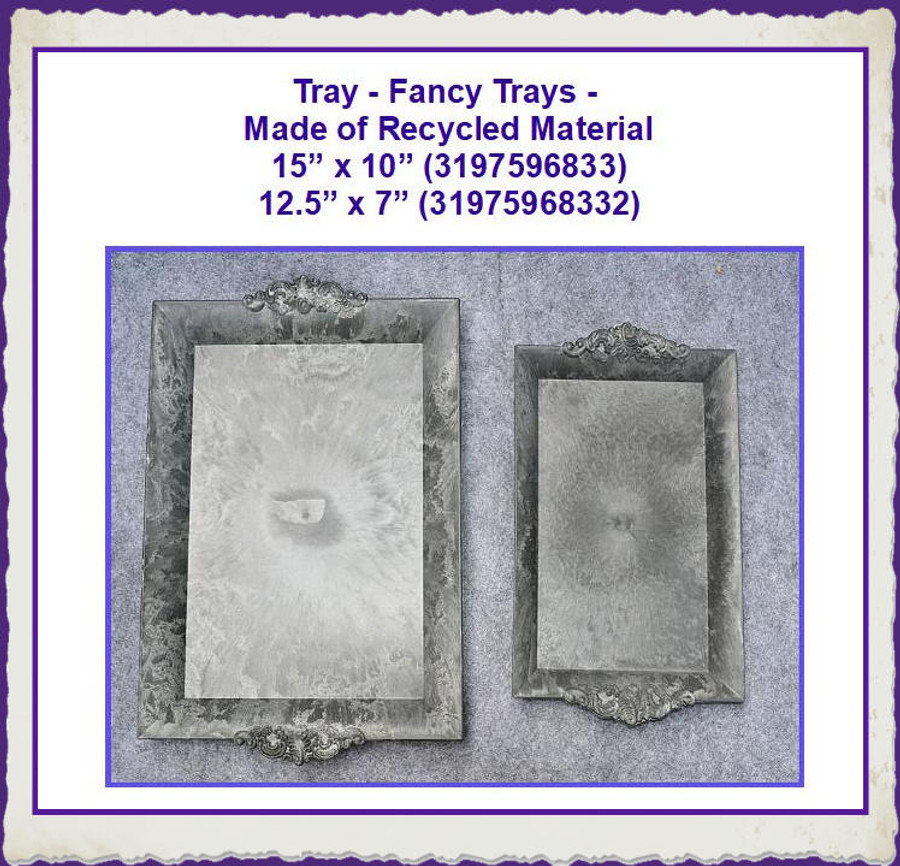 Tray - Fancy Trays - 2 Sizes Made of Recycled Material (319759683X)  On Sale
