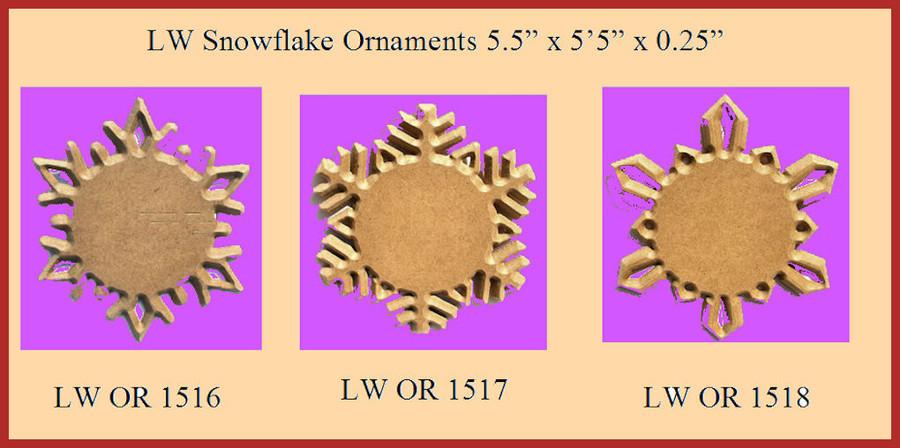 "LW - 6 Point Star Ornament 5.5"" (151616, 151617, 151618) List Price $3.15"