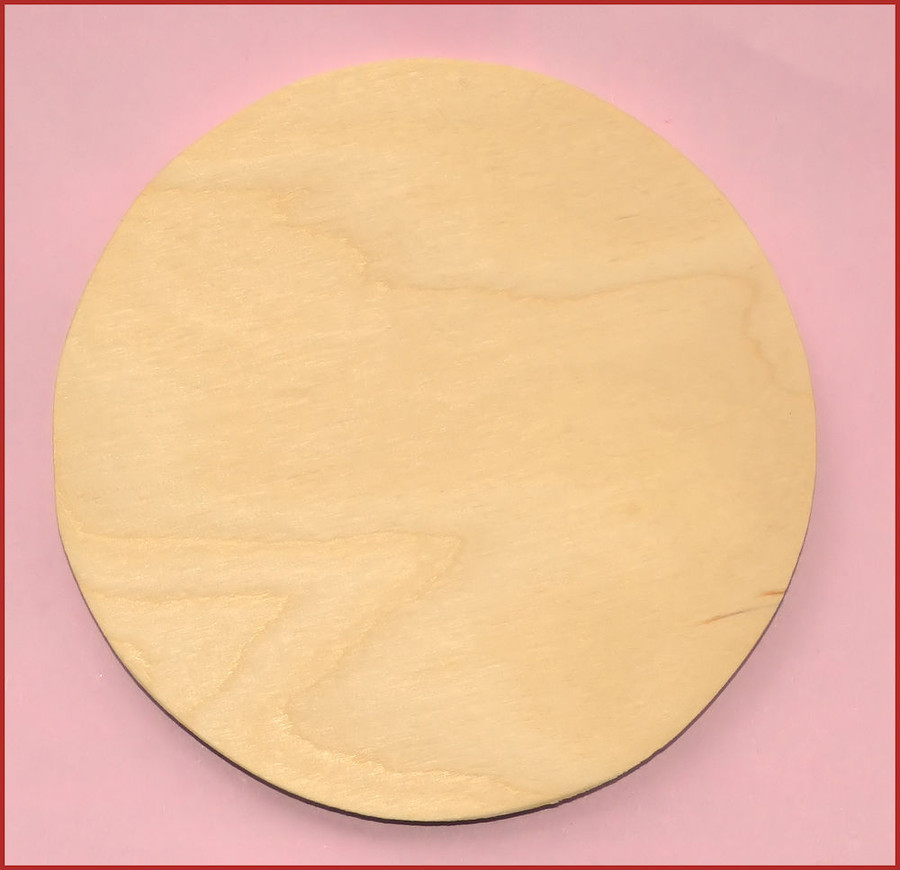 "Wood - Ornament , Round 4"" diameter (0119201612) List Price $1.35"