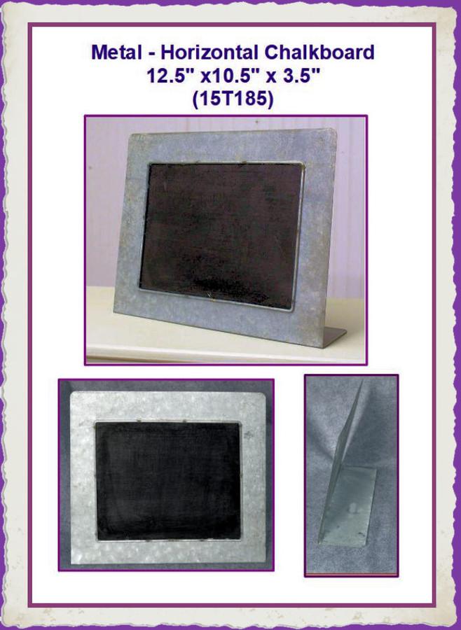 """Metal - Horizontal Chalkboard  12.5"""" x10.5"""" x 3.5"""" (15T185) List Price $12.50"""