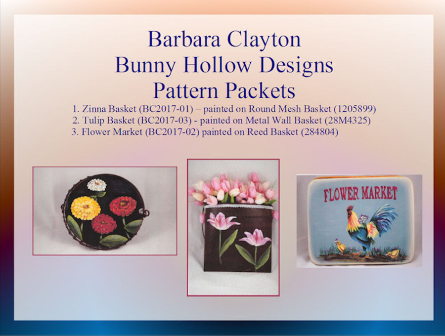 PP - Pattern Packets by Barbara Clayton of Bunny Hollow (BC2017-xx)List Price $8.00 - Big Sale $5.50