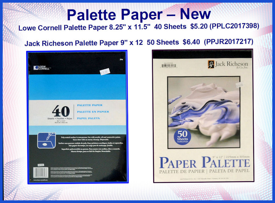 PT - Palette Paper - Two Different Types (PPJR2017217, PPLC20173980
