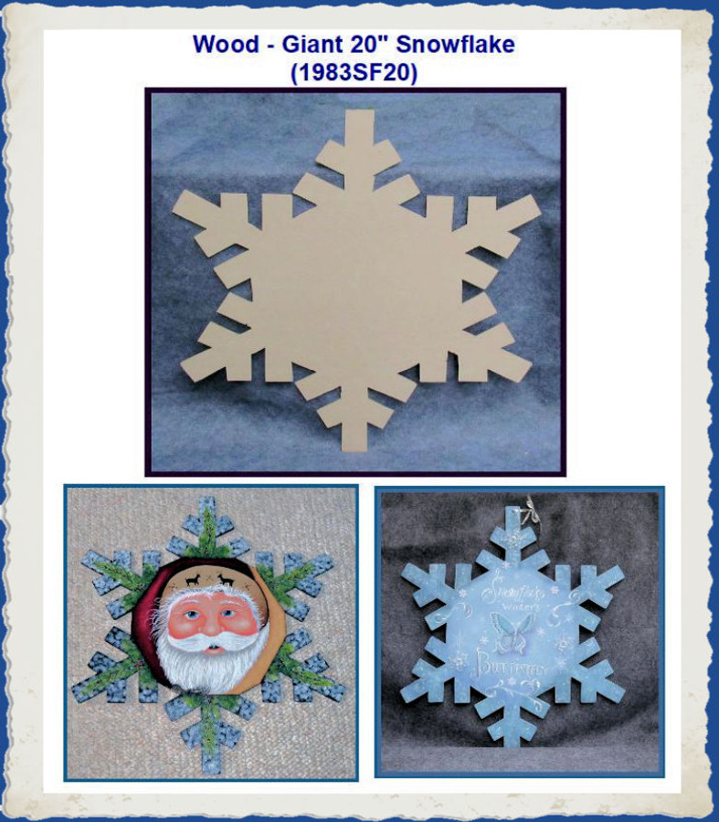"Wood - Giant 20"" Snowflake (1983SF20) List Price $18.00"