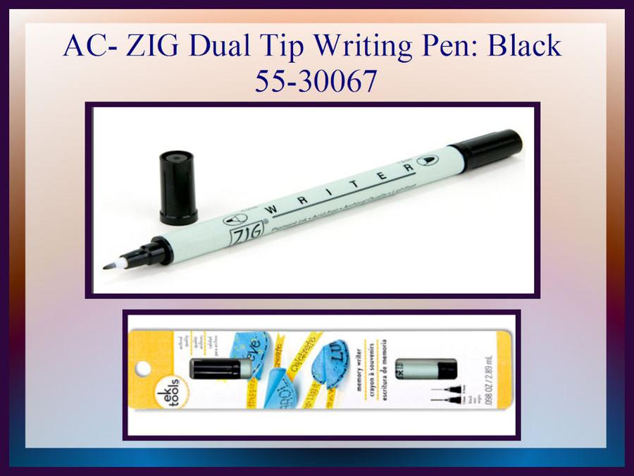 AC- Zig Tools Writing Pen Dual Tip - Black (55-30067)
