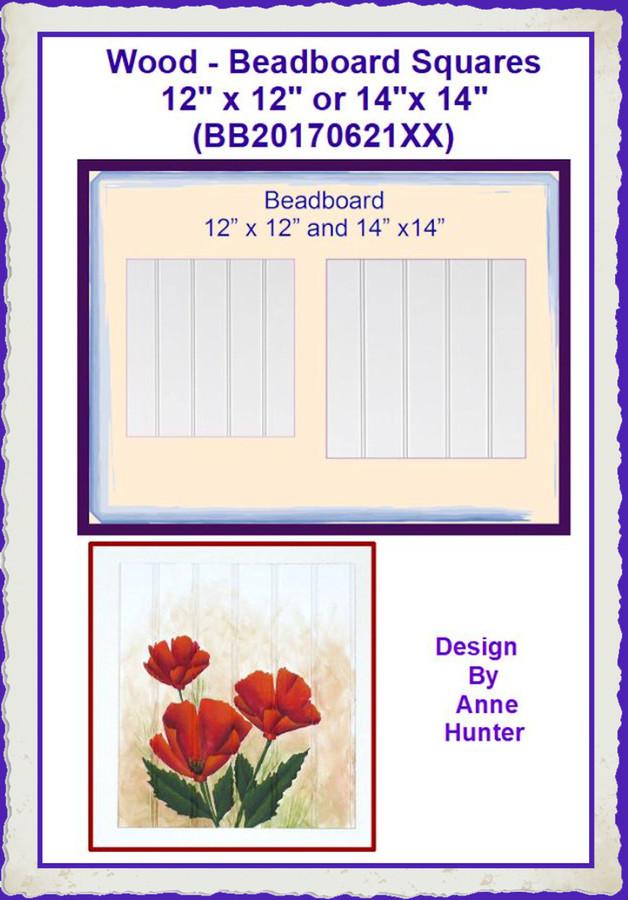 "Wood - Beadboard Squares 12"" x 12"" or 14""x 14"" (BB20170621XX) List Price $8.00"