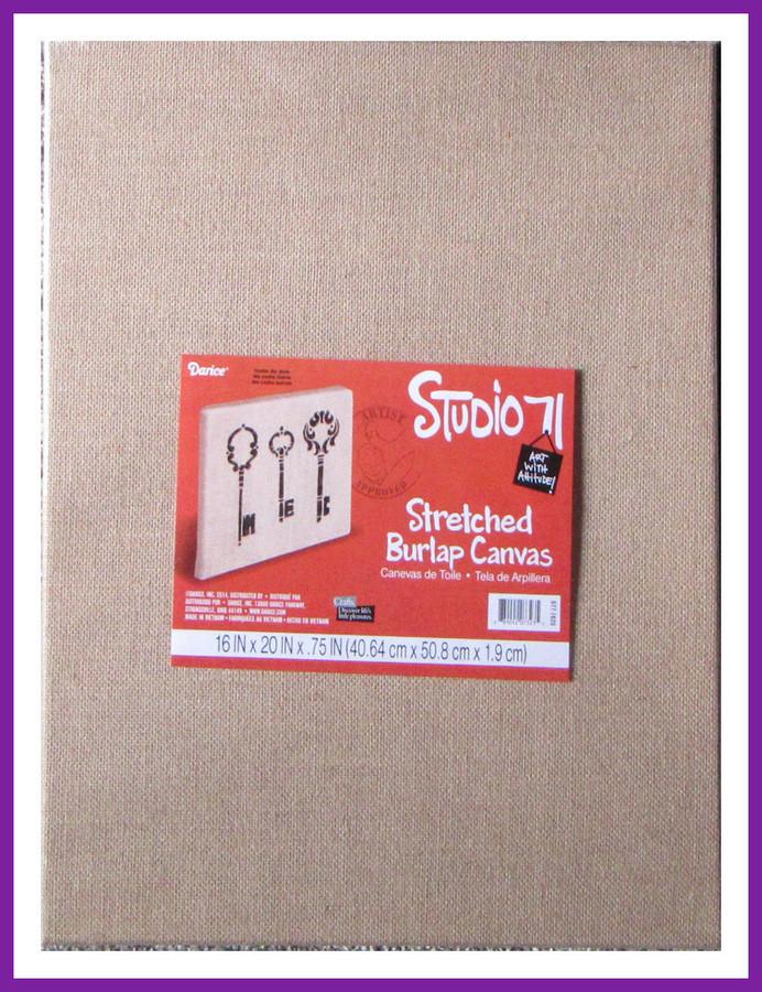 """PT- Stretched Burlap Canvas 20"""" x 16"""" (8909207323) List Price $14.00"""