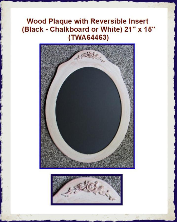 "Wood - Plaque with Insert  21"" x 15"" (TWA64463) List Price $30.00"
