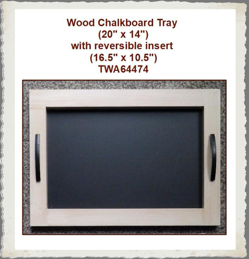 "Wood - Chalkboard Tray 20"" x 14"" with Reversible Insert (TWA64474) List Price $30.00"