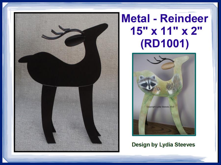 "Metal - Reindeer ` 15"" x 11"" x 2"" (RD1001)  List Price $18.00 BACK IN STOCK"